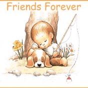 Верные друзья: малыш и песик очень мило будут смотреться на вашем смартфоне